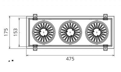 LED downlight PROLUMEN CL67-3 white 230V 90W 8200lm CRI80 60° IP20 3000K warm white