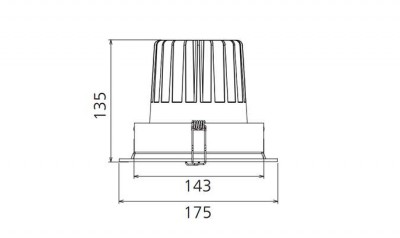 LED Allvalgusti PROLUMEN CL67 valge  30W 2800lm CRI80 60° IP20 3000K soe valge