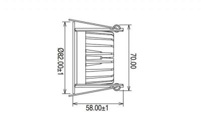 LED Allvalgusti PROLUMEN DL64 DIM valge  10W 900lm CRI80  36° IP40 3000K soe valge