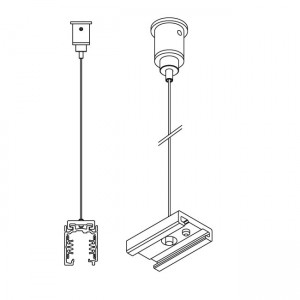 Power track IVELA Suspension kit dimmable white