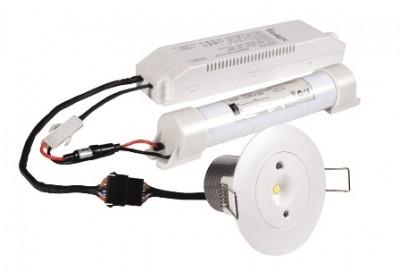 LED Turvavalgusti INTELIGHT Starlet AT 3h automaatne testimine valge ring 230V 3W 211lm CRI70 IP20 5000K päevavalge