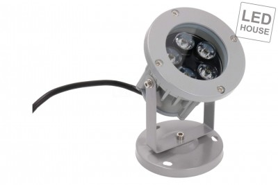 LED-pihavalaisin REVAL BULB FL001 harmaa  5W 420lm  45° IP65 3000K lämmin valkoinen