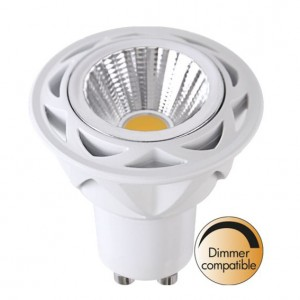 LED lamp 348-11 TRIAC 230V 5.5W 350lm CRI80 GU10 36° IP20 2700K soe valge