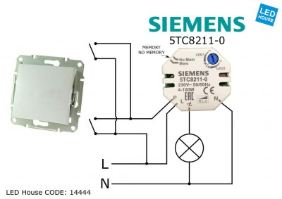 Switch 5TC8211-0 230V 100W