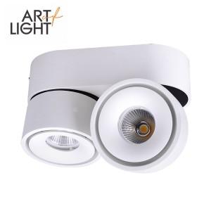 LED Allvalgusti LED Allvalgusti  LAHTI MINI 2X8W valge  16W 1078lm CRI90  60° IP20 3000K soe valge