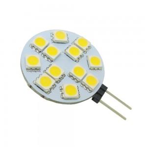 LED polttimo REVAL BULB 10/5050SMD 10-30V  2,5W 180lm G4 180° lämmin valkoinen 3000K