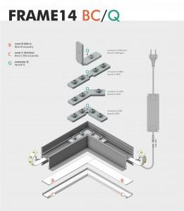 Alumiiniprofiili FRAME14 BC/Q 2m