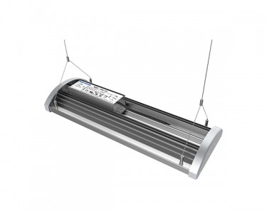 LED industrial light PROLUMEN T19B + microwave motion sensor silvery 230V 150W 19500lm CRI80 110° IP42 4000K pure whi