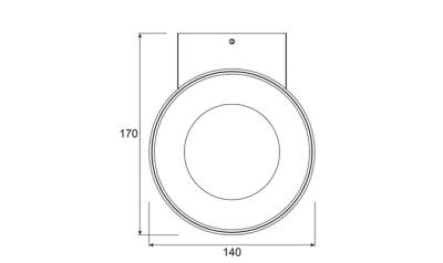 LED Seinavalgusti PROLUMEN WL07 must 230V 8W 600lm CRI80 120° IP65 3000K soe valge