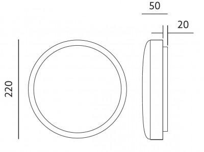 LED Plafoon TORO valge ring 230V 18W 1405lm CRI80 120° IP65 4000K päevavalge