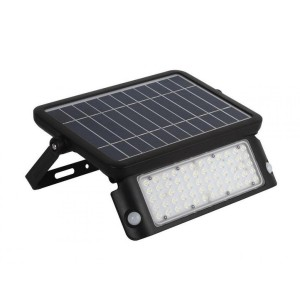 LED floodlight with motion detector LED floodlight with motion detector SOLAR LED MHC NB solar panel black 10W 1080lm CRI80 120° IP65 4000K pure white