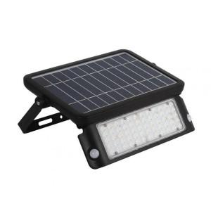 LED prožektor liikumisanduriga LED prožektor liikumisanduriga  SOLAR LED MHC NB päiksepaneeliga must  10W 1080lm CRI80  120° IP65 4000K päevavalge