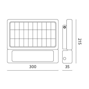 ЛЭД прожектор с датчиком движения  SOLAR LED MHC NB солнечная панель черный  10W 1080lm CRI80  120° IP65 4000K дневной белый