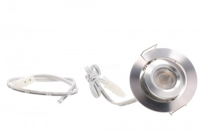 LED furniture light LED furniture light REVAL BULB MV-H silvery round 12V 3W 115lm CRI80  45° IP20 3000K warm white