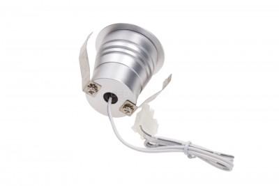 LED Mööblivalgusti REVAL BULB MV-I hõbedane ruut 12V 3W 115lm CRI80 60° IP20 3000K soe valge