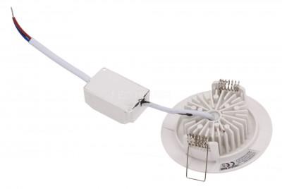 LED downlight UL white round 230V 6.5W 480lm CRI80 120° IP44 2700K warm white