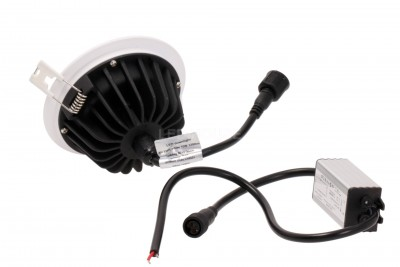 LED-alasvalo PROLUMEN XH kierros 230V 15W 1200lm CRI82 120° IP65 4000K päivänvalkoinen
