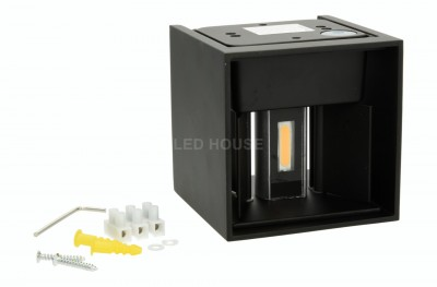 LED wall light REVAL BULB A100 black  12W 840lm CRI80  IP65 3000K warm white