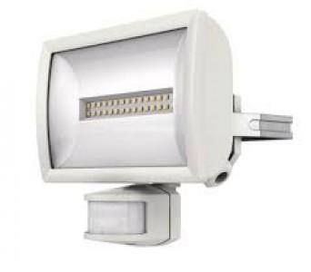 LED floodlight with motion detector LED floodlight with motion detector THEBEN theLeda E20 WH white 230V 20W 1325lm 120° IP55 4000K pure white
