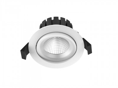 LED laevalgusti PROLUMEN CL76-3 valge ring 10W 600lm CRI90  36° IP54 2000-3000K DIM TO WARM