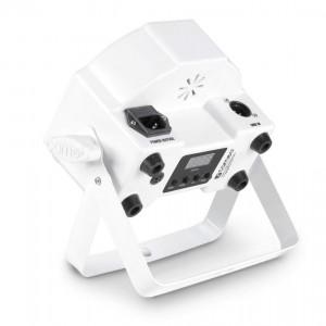 LED Prožektor CAMEO FLAT PAR 7 x 4W DMX valge 230V 20° RGBW RGBW