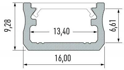 Alumiiniumprofiil LUMINES Type A 2m valge