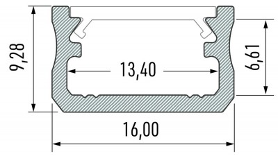 Alumiiniumprofiil LUMINES Type A 2m inox