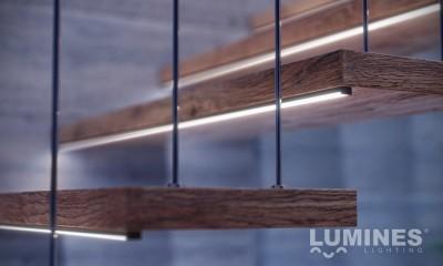 Alumiiniumprofiil LUMINES Type D 2m valge