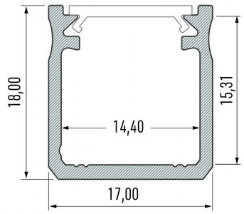 Alumiiniumprofiil LUMINES Type Y 2m hõbedane