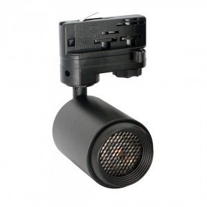 LED track light PROLUMEN Bath + Honeycomb filter black 230V 8W 650lm CRI90 50° IP20 4000K pure white