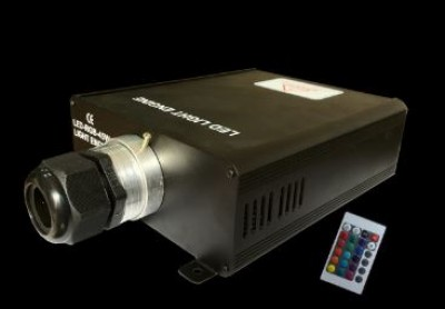 Lighting effect Fiber optic projector black 100-277V 45W IP20 RGB