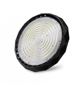 LED laovalgusti UFO 03 Strong 190lm/W must ring 230V 70W 13300 CRI70 90° IP65 5000K päevavalge