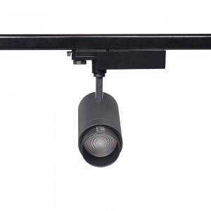 LED track light PROLUMEN Leon ZOOM black 230V 40W 4000lm CRI90 15-60° IP20 3000K warm white