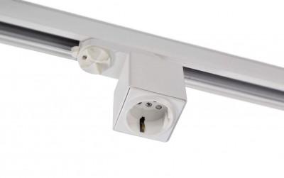 LED светильник на шине LED светильник на шине  штепсель на шину 16A белый