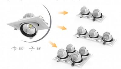LED-alasvalo LED-alasvalo PROLUMEN CL108-6 360x360 4x35W neliö 140W 14000lm CRI80 45° IP20 4000K päivänvalkoinen