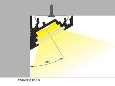 Alumiiniumprofiil CORNER10 BC/UX 2m hõbedane