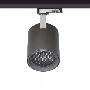 LED track light PROLUMEN Bristol + Honeycomb filter black 230V 32W 2800lm CRI90 36° IP20 3000K warm white