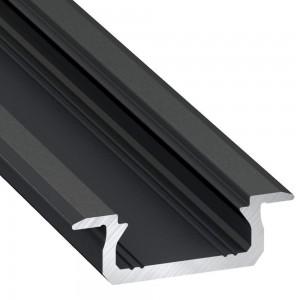 Алюминиевый профиль Алюминиевый профиль LUMINES Type Z 2m черный