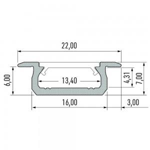 Alumiiniumprofiil LUMINES Type Z 2m hõbedane