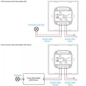 Regulaator SKYDANCE KS (TRIAC) valge 100-240V IP20