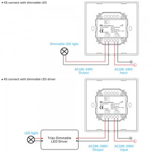 Adjuster SKYDANCE KS (TRIAC) white 100-240V IP20