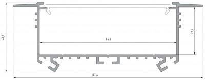 Alumiiniumprofiil LUMINES SORGA 3m hõbedane