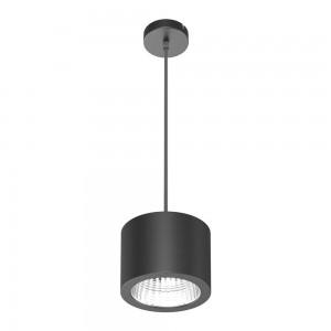 LED-kattovalaisin LED-kattovalaisin PD05 musta 25W 2450lm CRI80 90° IP20 3000K lämmin valkoinen