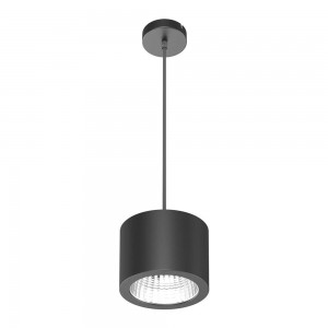 LED ceiling light LED ceiling light PD05 black 25W 2450lm CRI80 90° IP20 3000K warm white