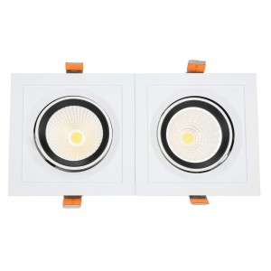 LED downlight PROLUMEN CL108-6 360x360 4x35W square 140W 14000lm CRI80 45° IP20 4000K pure white