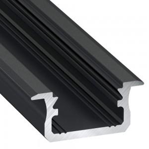 Alumiiniprofiili Alumiiniprofiili LUMINES Type B 2m musta