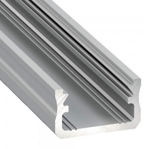 Alumiiniumprofiil LUMINES Type X 2m hõbedane