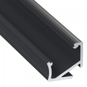 Aluminium profile Aluminium profile LUMINES Type H 2m, black