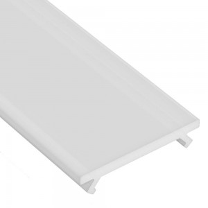 Aluminium profile cover LUMINES WIDE PMMA 3m, milky 42%
