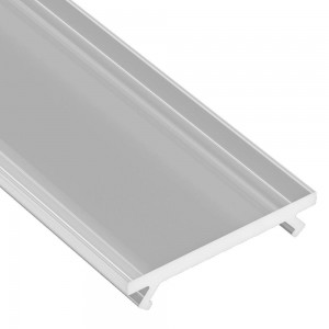 Aluminium profile cover LUMINES DOUBLE PMMA, 2m, frosted 78%